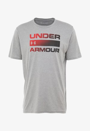 HEATGEAR - T-shirt imprimé - steel light heather/black