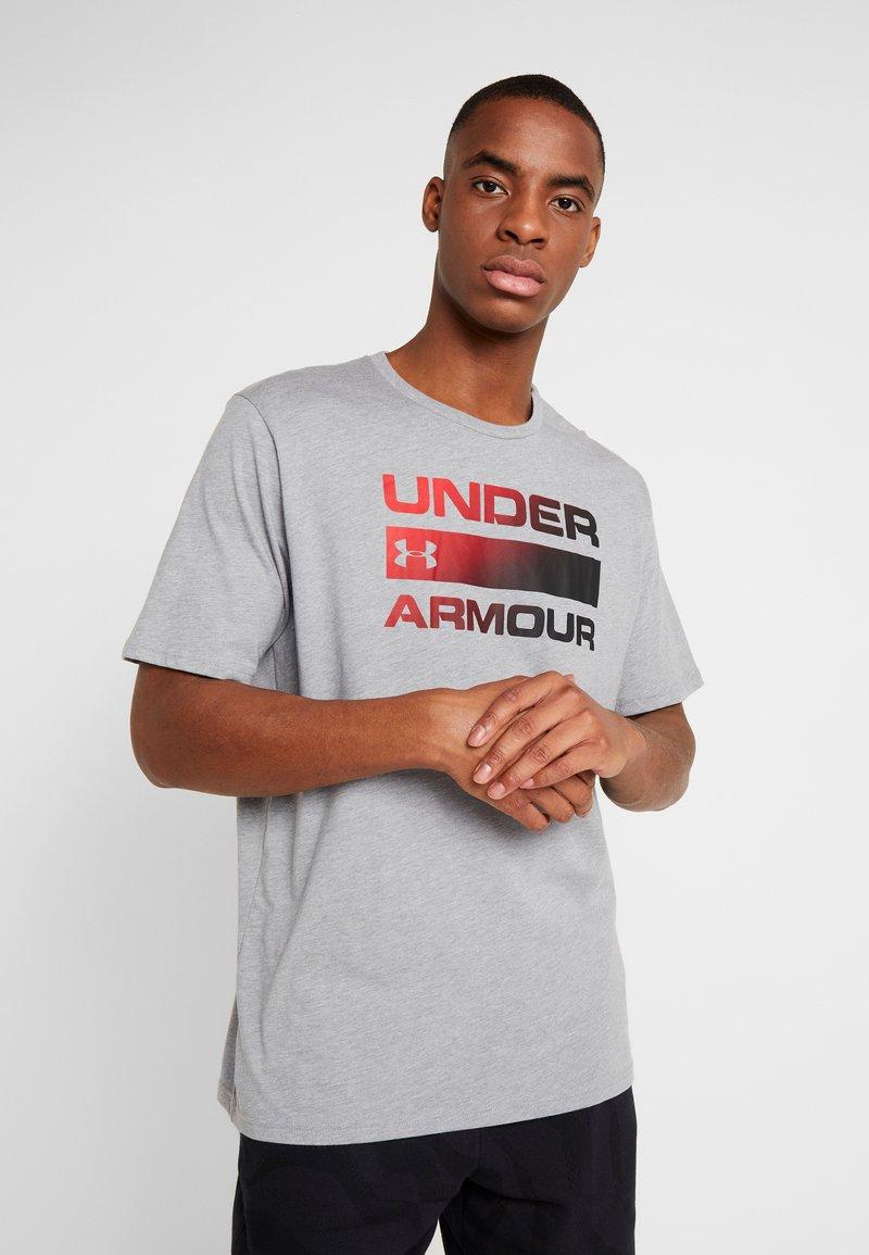 Under Armour - HEATGEAR - T-shirts med print - steel light heather/black