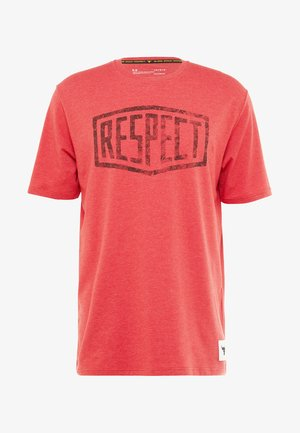PROJECT ROCK GRAPHIC RESPECT - T-shirt con stampa - fraternity medium heather/black