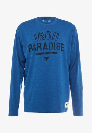 PROJECT ROCK IRON PARADISE - T-shirt sportiva - heron medium heather/black