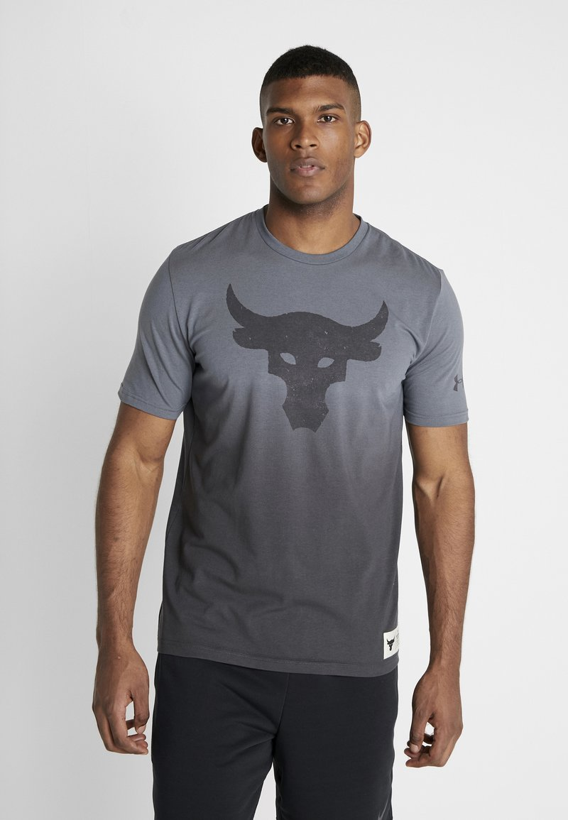 Under Armour - PROJECT ROCK BULL GRAPHIC  - T-Shirt print - pitch gray/jet gray