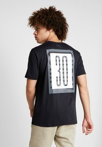 Under Armour - SC30 OVERLAY SS TEE - T-shirt print - black/white - 2