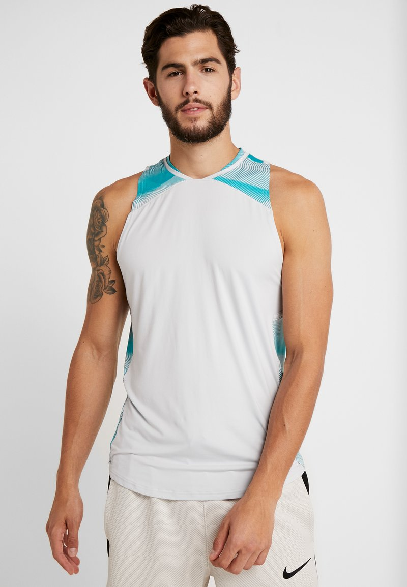 Under Armour - CURRY ELEVATED TANK - Funkční triko - halo gray/teal rush/black