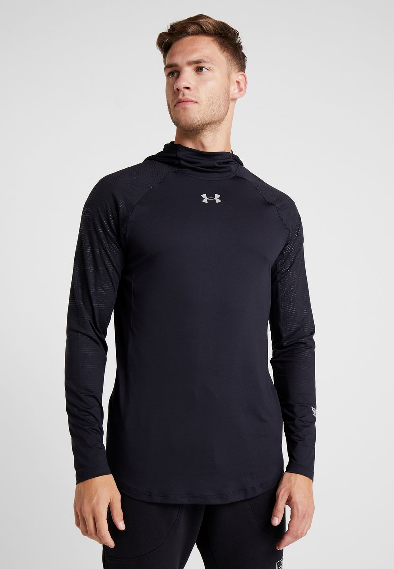 Under Armour - SELECT SHOOTING - Funktionströja - black/silver