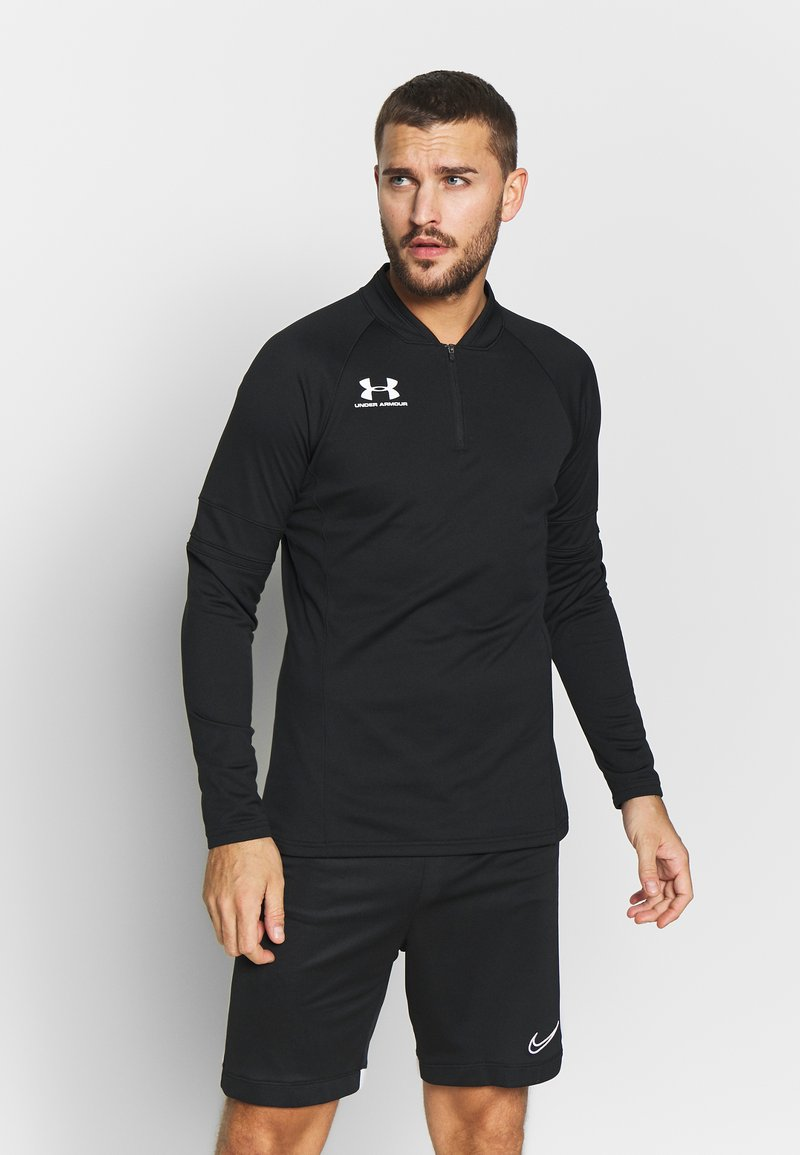 Under Armour - CHALLENGER MIDLAYER - Long sleeved top - black/white