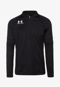 Under Armour - CHALLENGER MIDLAYER - Long sleeved top - black/white - 3