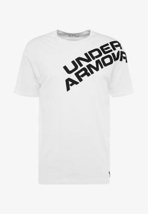 WORDMARK SHOULDER - T-shirt med print - white/black