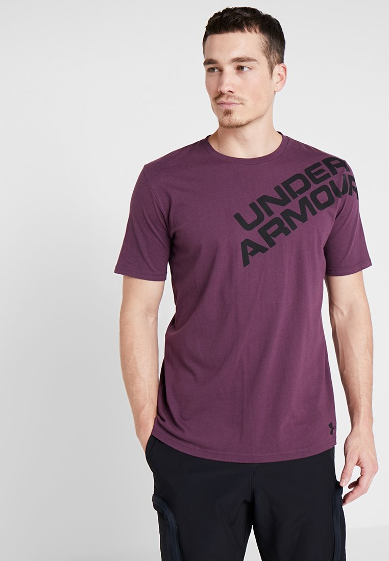 Under Armour - WORDMARK SHOULDER - T-shirt imprimé - kinetic purple/black