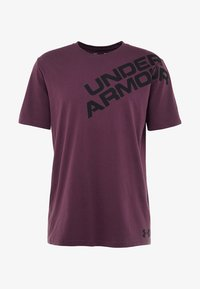 Under Armour - WORDMARK SHOULDER - T-shirt imprimé - kinetic purple/black - 5