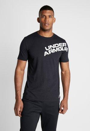 WORDMARK SHOULDER - Print T-shirt - black