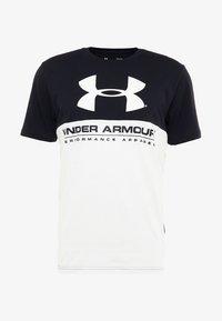 Under Armour - PERFORMANCEAPPAREL COLOR BLOCKED  - Print T-shirt - black/white - 4