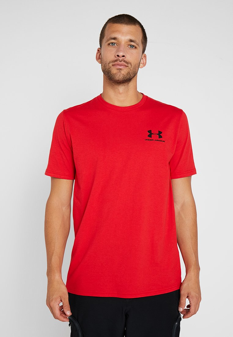 Under Armour - SPORTSTYLE BACK TEE - T-Shirt print - red/black