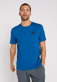 Under Armour - SPORTSTYLE BACK TEE - Print T-shirt - teal vibe/black - 0