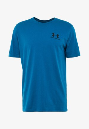 SPORTSTYLE BACK TEE - Print T-shirt - teal vibe/black