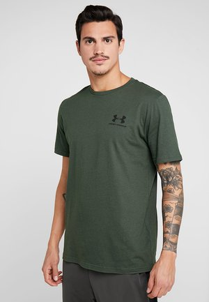 SPORTSTYLE BACK TEE - T-shirt med print - baroque green/black