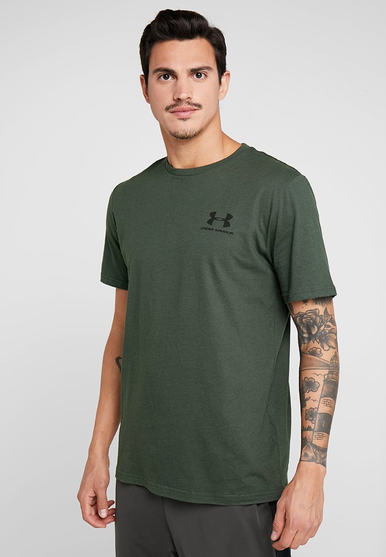 Under Armour - SPORTSTYLE BACK TEE - T-Shirt print - baroque green/black
