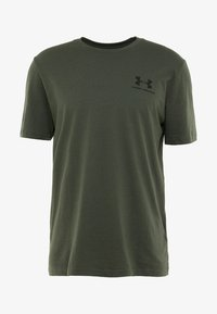 Under Armour - SPORTSTYLE BACK TEE - T-shirts print - baroque green/black - 3