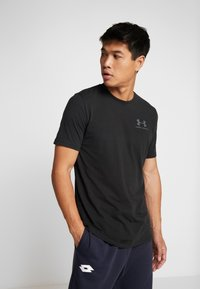 Under Armour - SPORTSTYLE BACK TEE - T-shirt print - black/pitch gray - 2