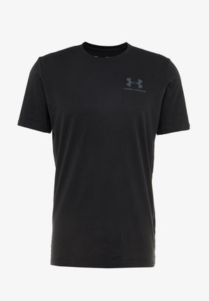 SPORTSTYLE BACK TEE - T-shirt print - black/pitch gray