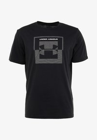 Under Armour - INVERSE BOX LOGO - T-shirt med print - black - 4