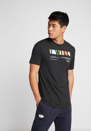 I WILL  - Print T-shirt - black/white