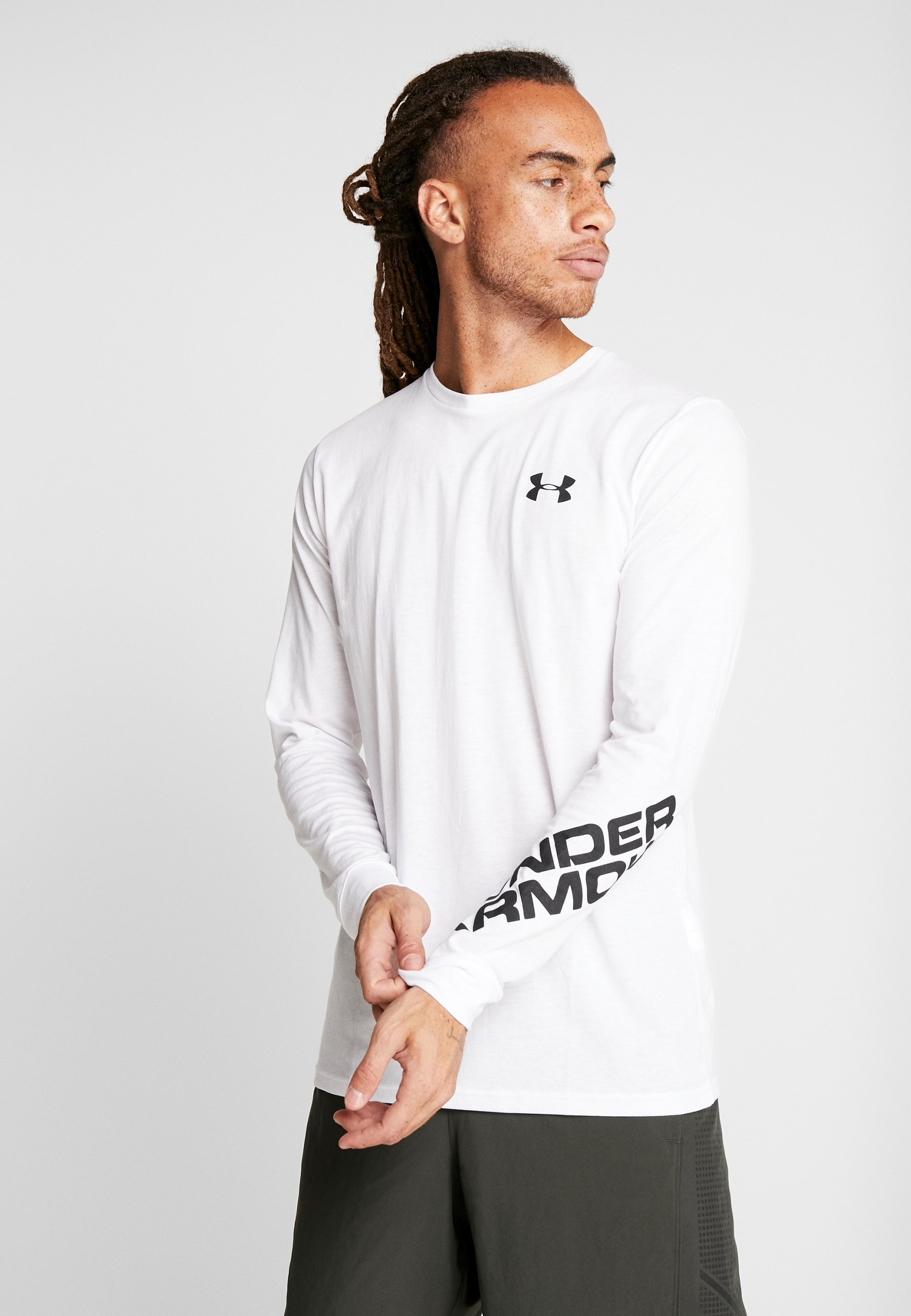 Under Armour WORDMARK SLEEVE - T-shirt de sport white/black