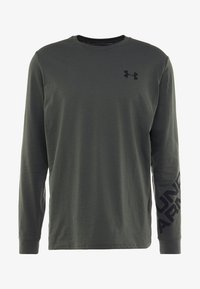 Under Armour - WORDMARK SLEEVE - T-shirt sportiva - baroque green - 4