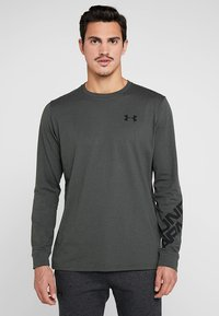 Under Armour - WORDMARK SLEEVE - T-shirt sportiva - baroque green - 0