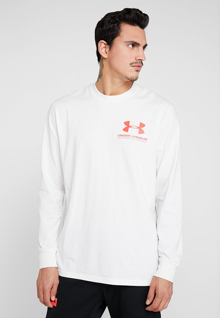 Under Armour - PERFORMANCE ORIGINATORS TEE - Langærmede T-shirts - onyx white/martian red