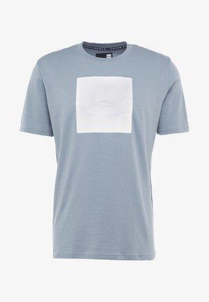 UNSTOPPABLE TEE - T-shirt med print - ash gray/white