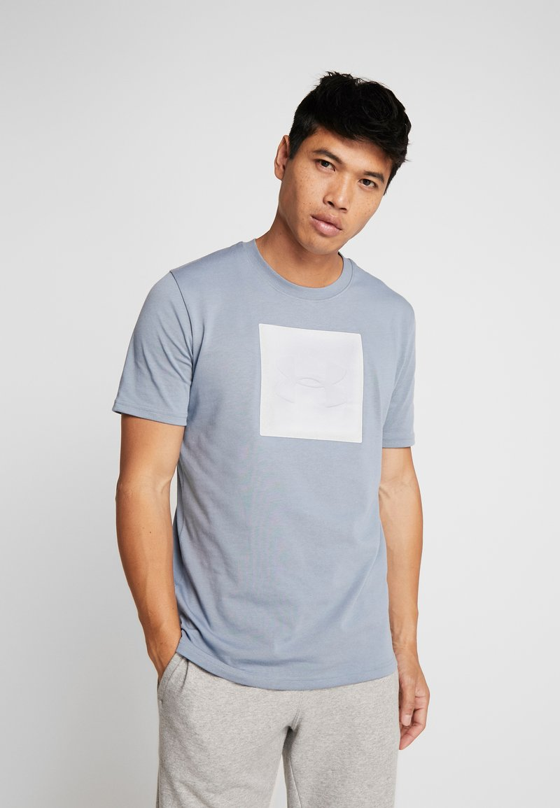 Under Armour - UNSTOPPABLE TEE - T-shirt print - ash gray/white