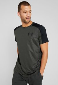 Under Armour - EMBOSS - Printtipaita - baroque green/black - 0