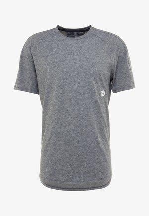 ATHLETE RECOVERY TRAVEL TEE - T-shirt basic - black fade heather/metallic silver