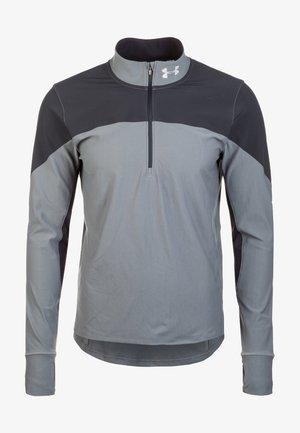 QUALIFIER HALF ZIP HERREN - Sports shirt - black/grey