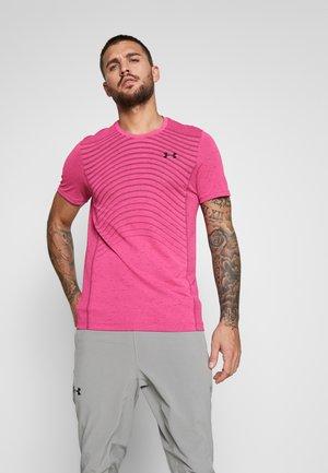 SEAMLESS WAVE - Printtipaita - pink surge/black