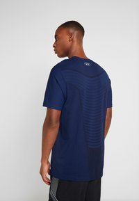 Under Armour - SEAMLESS WAVE - T-shirt med print - american blue/mod gray - 2