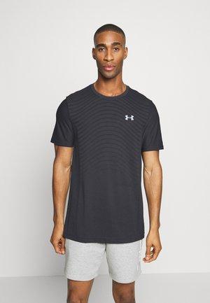 SEAMLESS WAVE - T-shirt con stampa - black/mod gray