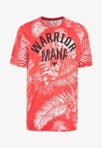 Under Armour - PROJECT ROCK ALOHA CAMO - T-shirt imprimé - versa red/summit white - 4