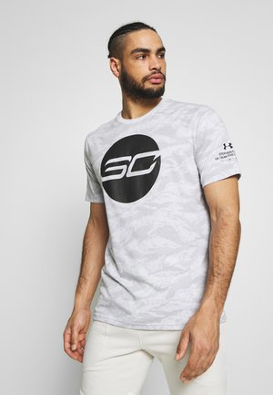 CAMO LOGO TEE - T-shirt print - halo gray/black