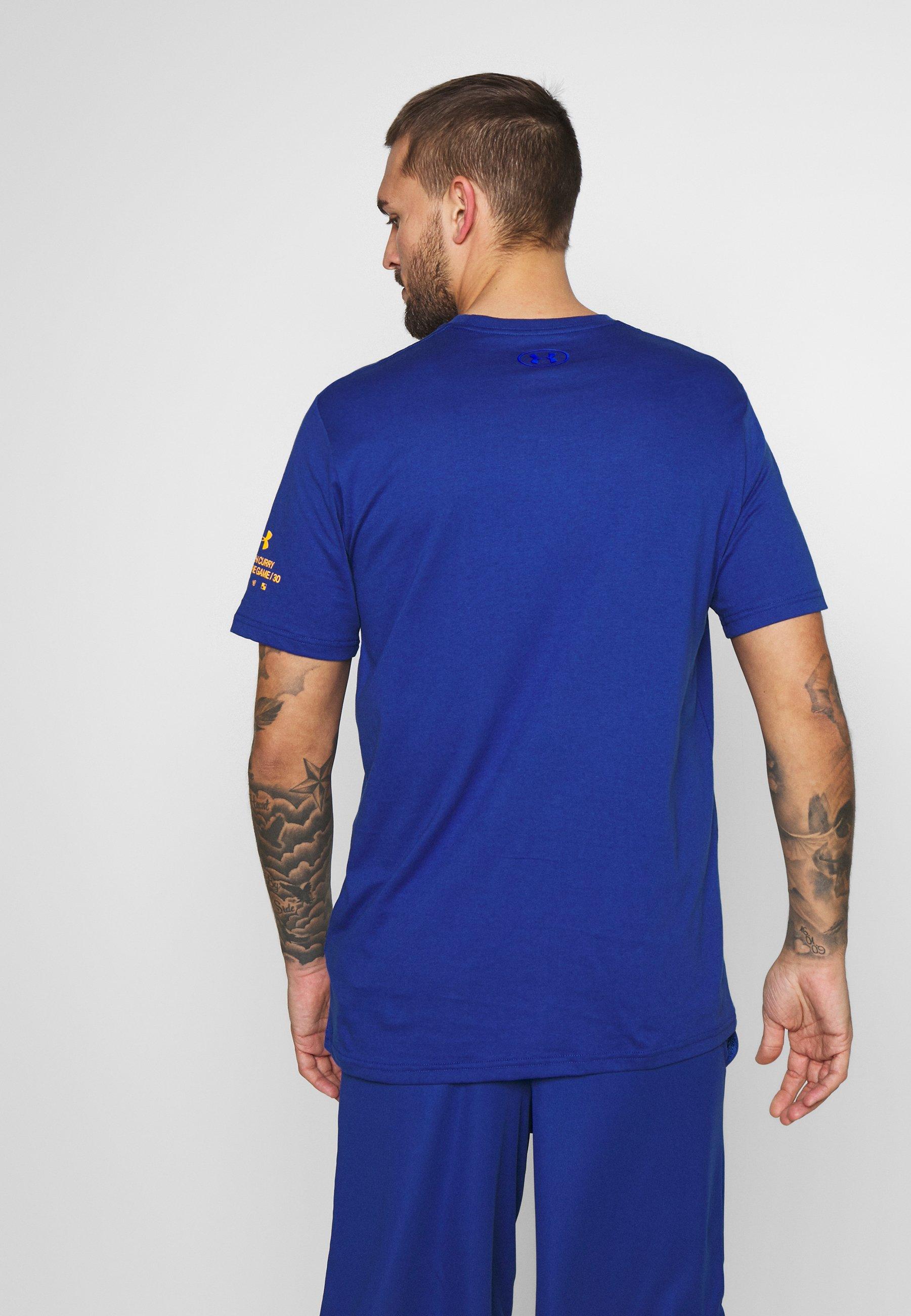 Under Armour CAMO LOGO TEE - T-shirt con stampa - american blue/persimmon/versa blue