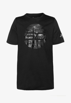 CAMO LOGO TEE - T-shirt z nadrukiem - black
