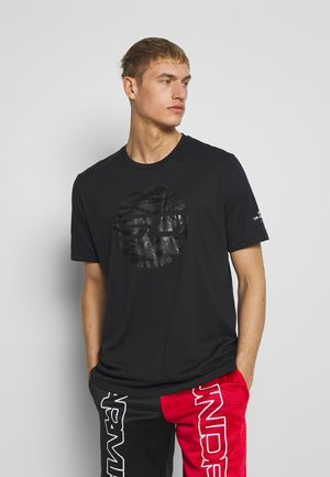CAMO LOGO TEE - T-shirt med print - black