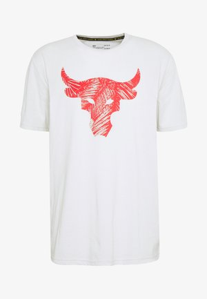 PROJECT ROCK BRAHMA BULL  - Camiseta estampada - summit white/versa red
