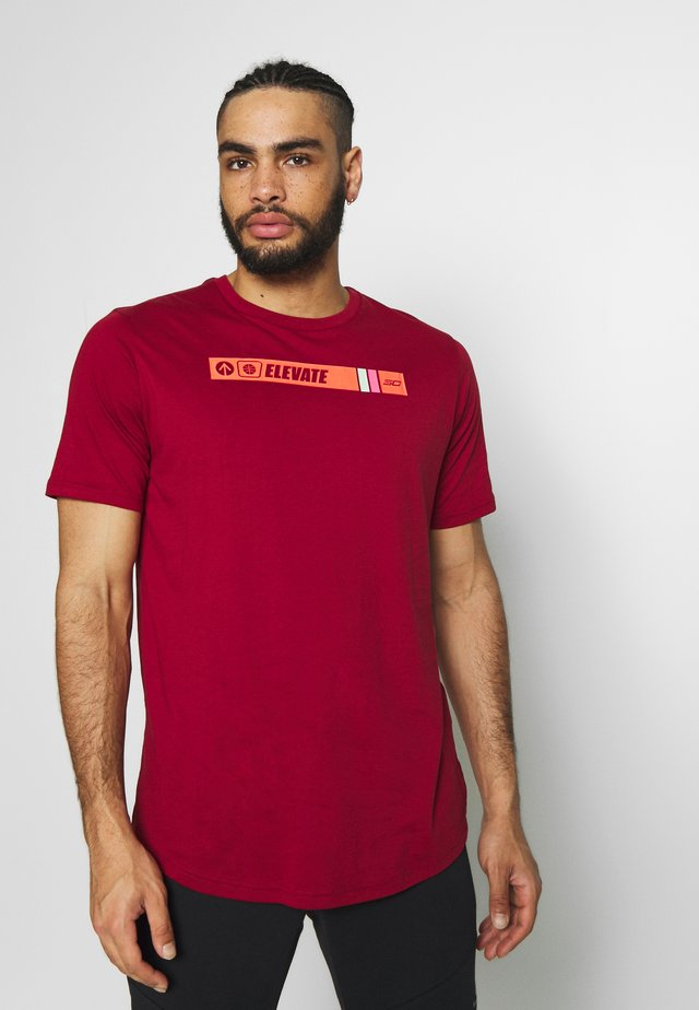 TEE - T-shirt con stampa - cordova/aqua foam/beta