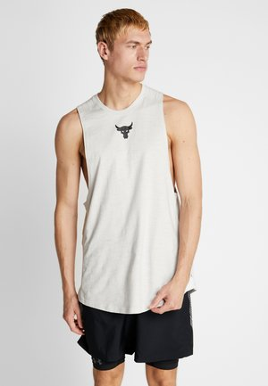 PROJECT ROCK CHARGED COTTON TANK - Débardeur - summit white/black