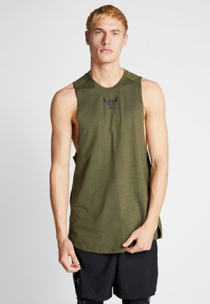 PROJECT ROCK CHARGED COTTON TANK - Débardeur - guardian green/black