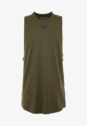 PROJECT ROCK CHARGED COTTON TANK - Top - guardian green/black