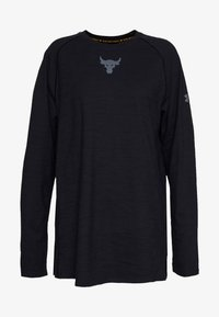 Under Armour - PROJECT ROCK CHARGED - Long sleeved top - black/pitch gray - 0