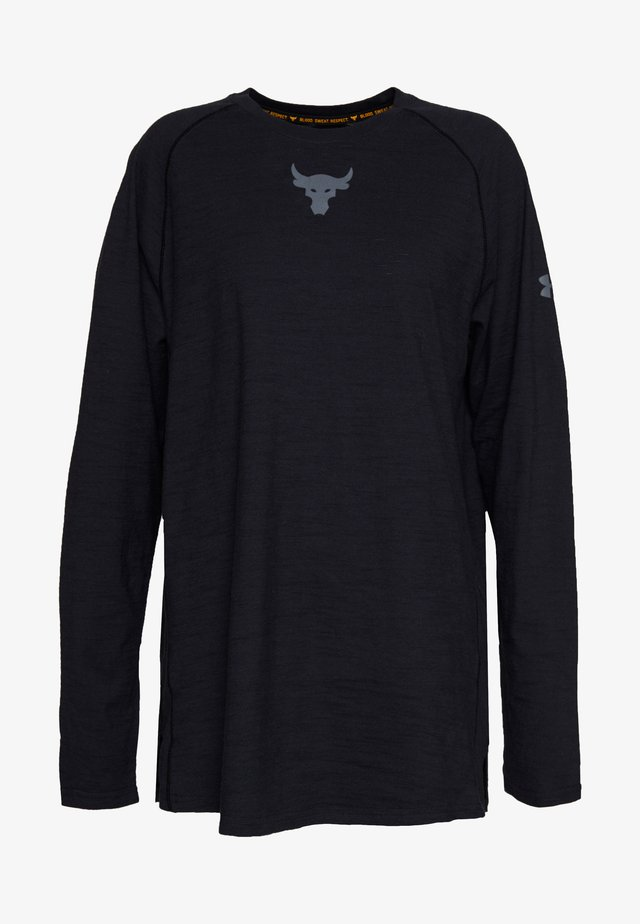 PROJECT ROCK CHARGED - Long sleeved top - black/pitch gray