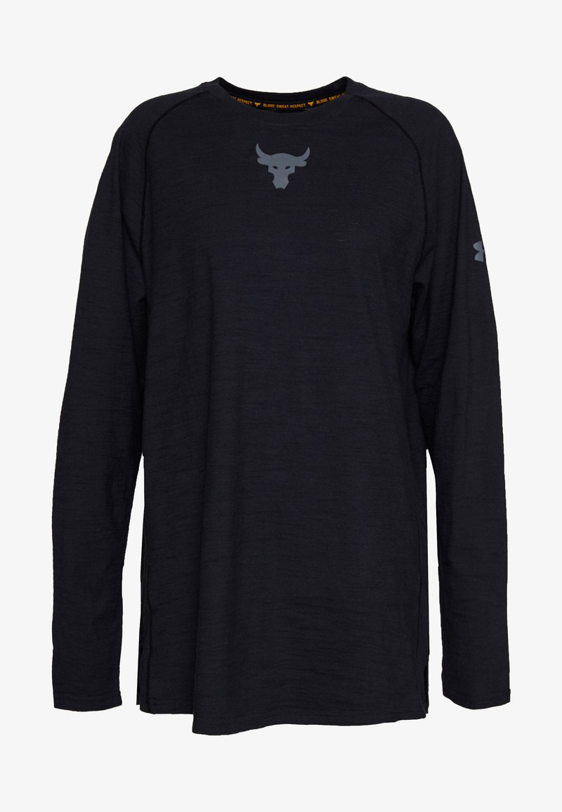 Under Armour - PROJECT ROCK CHARGED - Long sleeved top - black/pitch gray